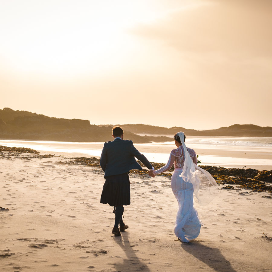 Gorgeous Valentine's Elopement on Arisaig Beach